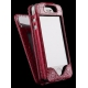 Чехол для iPhone Sena Wallet Skin Croco Burgundy