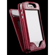 Чехлол для iPhone Sena Wallet Skin Croco Burgundy